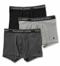 NEW Polo Ralph Lauren Classic Fit 100% Cotton Trunks-3 Pack Andover/Madison/Blk