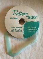 "Pattern ""800"" 1/2"" Satin Ribbon Acetate Fused Edge - Light Green - Made in USA"