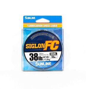 Sunline Siglon FC Fluorocarbon 100% Linie 50m 38lb Diameter 0.55mm (8388)