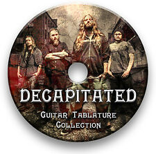 DECAPITATED METAL ROCK GUITAR TAB TABLATURE SONG BOOK SOFTWARE LIBRARY CD