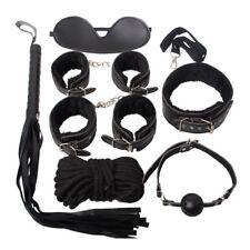 Sexy Bondage Set Adult Kit Collar Ballgag Blindfold HandCuffs Legcuff Fetish M13