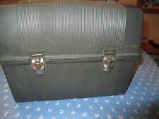 VINTAGE thermos BRAND BLACK PLASTIC LUNCH BOX crafts birdhouse