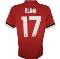 2017-2018 Manchester United #17 Daley Blind Match Worn Home Shirt Adidas Adizero