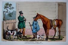 """SHOOTING """"GOING OUT"""" GENUINE AQUATINT BY HENRY ALKEN ORIGINAL HAND COLOUR  c1825"""