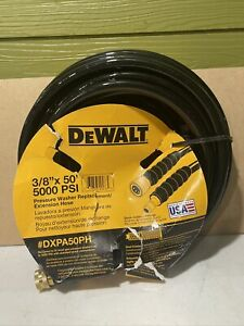 """Dewalt 5000PSI 3/8"""" x50' Pressure Washer Replacement/Extension Hose DXPA50PH NEW"""