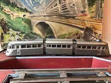 Vecchio treno/ trenino elettrico giocattolo d'epoca Joustra /rotaie