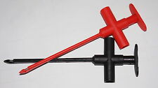 INSULATION PIERCING CLIP BANANA JACK SPRING COPPER RED BLACK TEST PROBE NEW