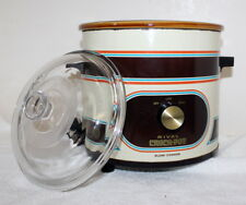 Vintage Rival 3100/2 Crock Pot Slow Cooker w/ Original Glass Lid  3.5 Qt Working