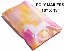 New listing (40) Watercolor Unicorn 10 x 13 Poly Mailers Self Sealing Envelopes Bags Color