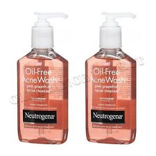 NEUTROGENA OIL FREE ACNE WASH PINK GRAPEFRUIT 2 x 177ml NEW - FACE WASH BLEMISH