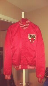 Vintage Chicago Bulls Throwback Satin Starter Jacket XL! NBA