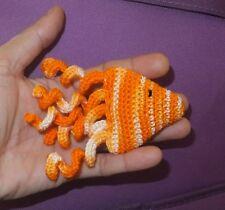 New listing Handmade Cat Toy, Golden Fish crochet with catnip, 1 pc amigurumi