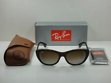 RAY-BAN POLARIZED SUNGLASSES RB4227 710/T5 TORTOISE/BROWN LENS 55MM, NEW!