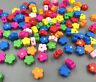 200 Mix Mehrfarbig Holzperlen zum Fädeln Beads Speichelfest Blume Perlen 12mm