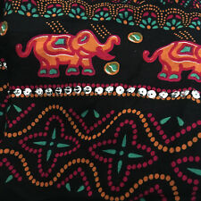 SEQUINNED Elephant Sarong - Beach/Pool/Cover Up - Fuchsia/Orange/Turquoise