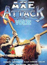 AXE ATTACK vol II RAINBOW motorhead BLACK SABBATH iron maiden RUSH EX LP UK