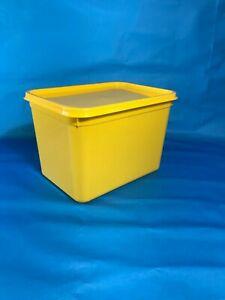 Plastic Storage Containers 50 x 4ltr Rectangular YELLOW