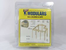N Wall Columns & Caps Modular Structure Kit - Walthers Cornerstone #933-3284