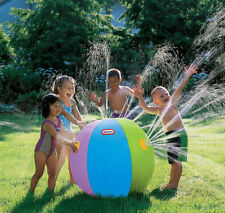 "New Kids 88"" Large Beach Ball Sprinkler little tikes Water Play Yard Fun"