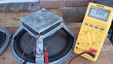 "Pair Vintage 67 Wharfedale  12"" Cast Speakers / Woofer, Square Ceramic England"