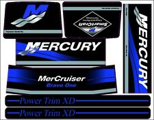 MERCRUISER THE NEW BLUE 2017 BRAVO ONE  W/BLUE RAMS STICKER SET
