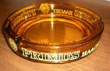 "Vintage Belgium Primus Haachet Beer Amber 7"" Ashtray - Exceptional"