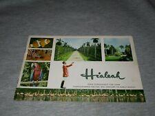 HIALEAH RACE TRACK-FLORIDA-HORSE RACING ORIGINAL 1950s ERA BOOKLET