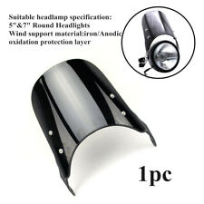 """Fit for 5""""&7""""Round Headlight Holder Motorcycle Front Windshield Windscreen Kit"""