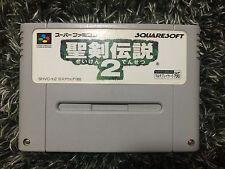 Seiken Densetsu 2 Super Famicom Japan Secret of Mana Squaresoft Nintendo