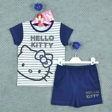 ~ HELLO KITTY ~ Ensemble été fille bleu ==> T- shirt & Short ~ 8 ANS ~ NEUF