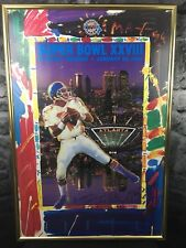 Signed Peter Max Superbowl XXVIII 1994 John Elway Framed Art