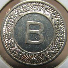 1950 Bibb Transit Company Macon, GA Transit Bus Token - Georgia