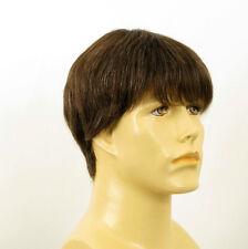 Perruque homme 100% cheveux naturel châtain ref ALAN 6spw