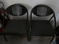 Coppia 2 poltrona sedia sala d'attesa in metallo con cuscino e ruote