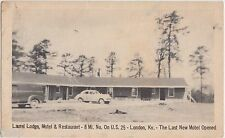Kentucky Ky Postcard Roadside LAUREL LODGE MOTEL Restaurant US25