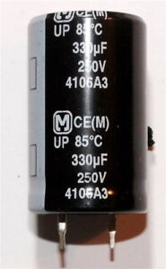 Panasonic UP Snap-In Radial Electrolytic Capacitor 330µF 250V 85°C