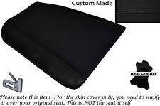 Negro Stitch Custom encaja Cagiva Mito 125 cuartos traseros De Cuero Funda De Asiento Solo