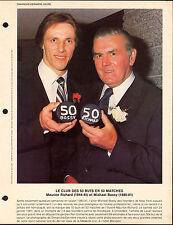 1981 MIKE BOSSY & MAURICE RICHARD 50 goals pack 8X11 PHOTO French Magazine