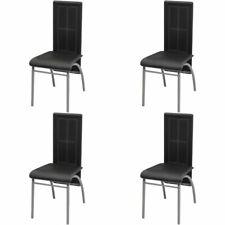 Vidaxl 4x sedie da pranzo in similpelle nere Design moderno salotto Seggiole