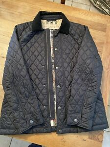 BURBERRY BRIT DIAMOND QUILTED COAT SIZE XL