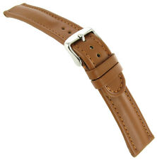 20mm Zuccolo Rochet Waterproof Genuine Leather Stitched Padded Tan Watch Band