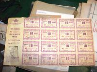 A. C. I. - CARTA CARBURANTE LUGLIO/AGOSTO 1949 con 16 BUONI BENZINA 10 UNITA'