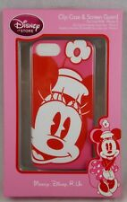 Disney Store Minnie Mouse Pink iPhone 5 Cell Phone Clip Case & Screen Guard IP5
