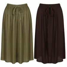 Viscose Patternless Formal Skirts for Women