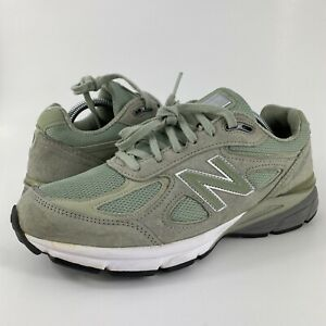 New Balance 990v4 'Mint' Green Running Shoes Made In USA M990SM4 Men's Size 9.5