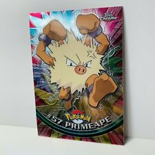 Primeape #57 Holo Foil TOPPS Chrome Pokemon Card TV Animation NEAR MINT