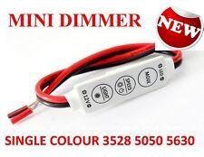12V MINI LED STRIP LIGHT DIMMER CONTROLLER ON OFF SWITCH FOR 3528 5050 5630