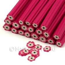 Flor Rosa Oscuro Hecho a Mano 3x para Arte en Uñas canes (enc06)