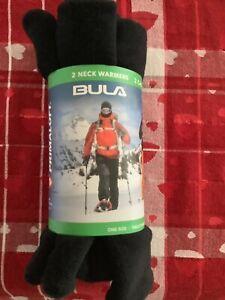 BULA Primaloft Gaiter 2 Neck Warmers Black Soft Stretch Breathable Fleece layer