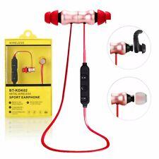 Wireless Sports Rose gold Pink Metal Bluetooth Earphone Headphone Earbud Headset